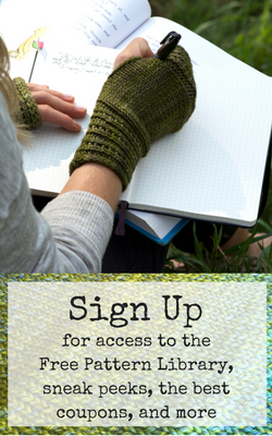 Sign Up for awesome knitting content, free patterns, discounts, and more