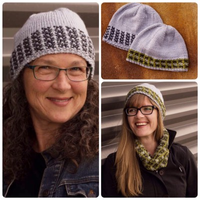 Crossed Furrows Hats knitting pattern aran