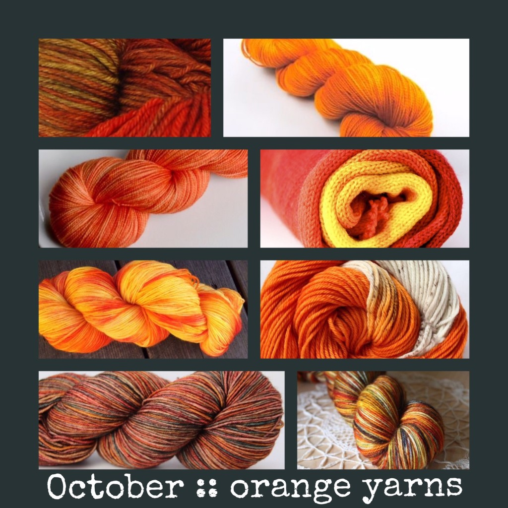 energizing orange yarns for knitting