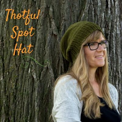 free knitting pattern :: Thotful Spot hat uses DK or Sport weight yarn