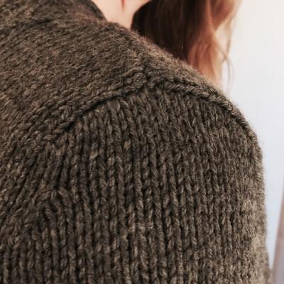 Customfit Cardigan, Reservoir, knit in Knit Picks Stroll Sport