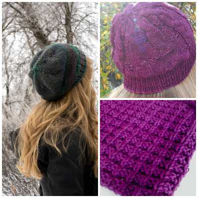 Scant Hat, Hermione's Cable and Eyelet Hat, Double Bump Dishcloth