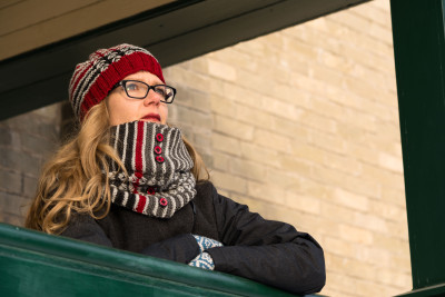 'In Search of the Seine' hat and cowl knitting pattern