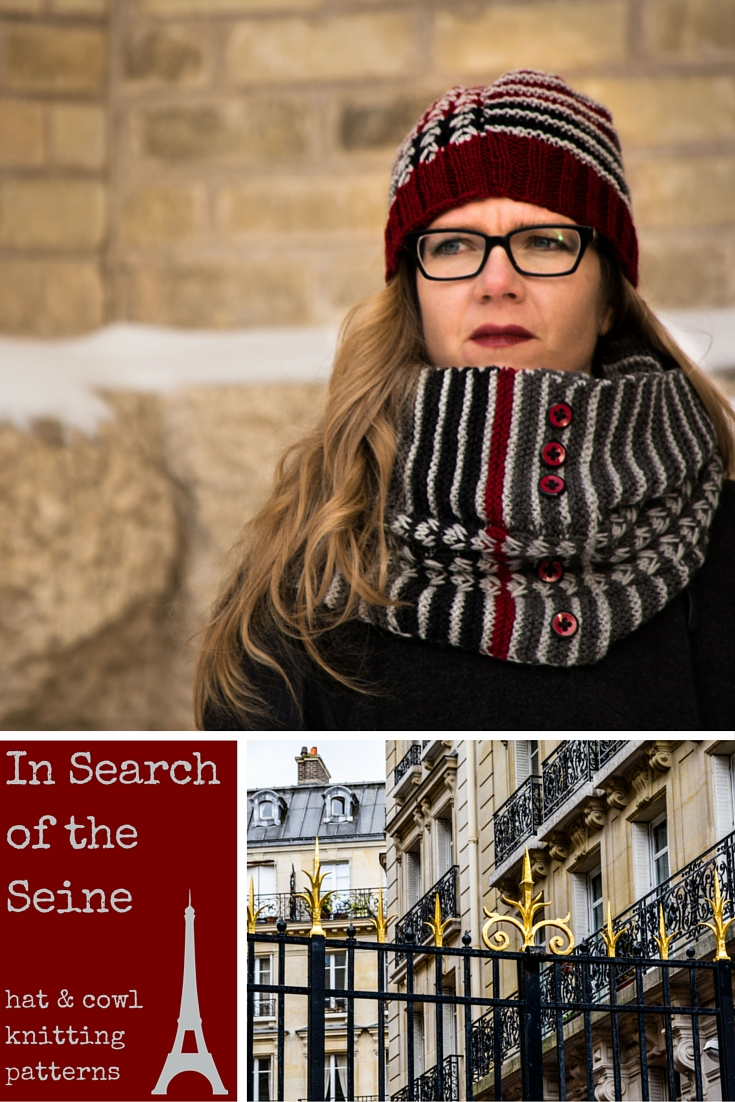 'In Search of the Seine' Hat and Cowl Knitting Patterns by Imagined Landscapes