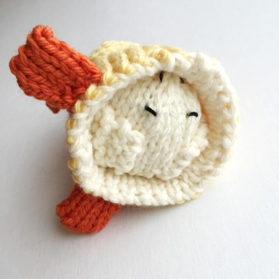 Reversible Duck to Bunny knitted toy by Susan B Anderson