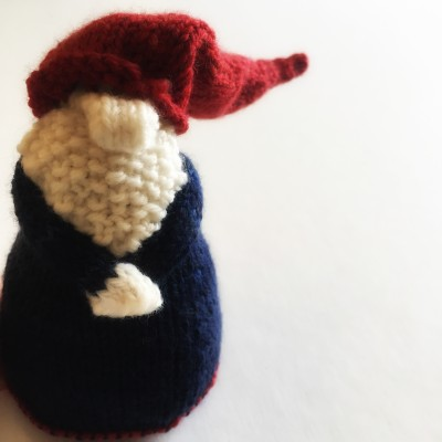 grumpy knitted gnome