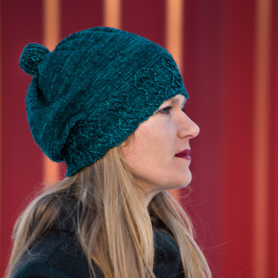 Pomball: Framed hat pattern for knitters from Imagined Landscapes Designs