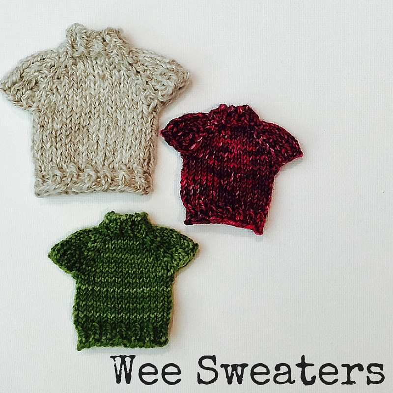 Wee Sweaters free knitting pattern for a sweater ornament