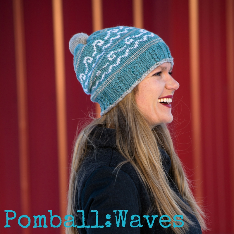Pomball: Waves hat knitting pattern