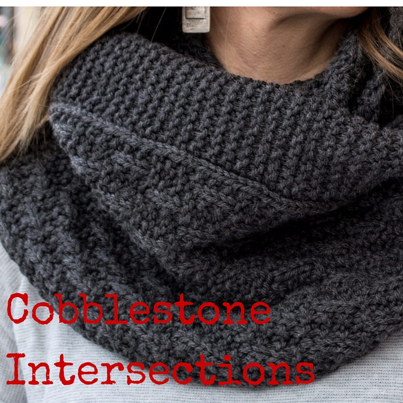 Cobblestone Intersections Cowl knitting pattern