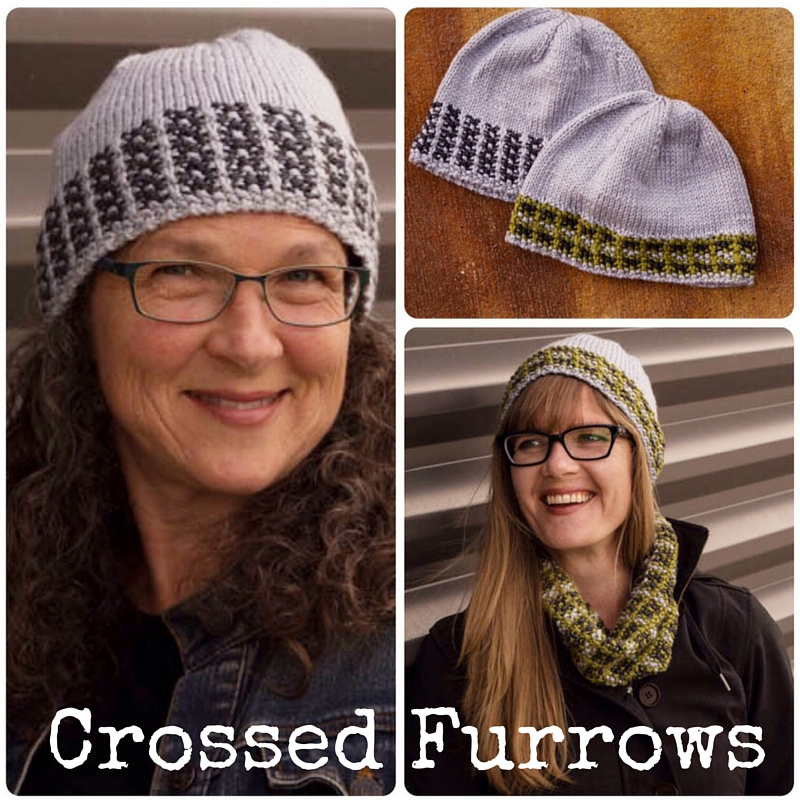 Crossed Furrows Hat - 2 hat designs in one pattern