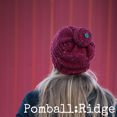 Pomball: Ridge hat pattern for knitters from Imagined Landscapes Designs