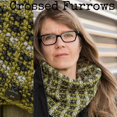 Crossed Furrows Cowl knitting pattern