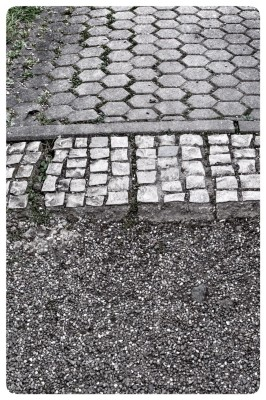 Cobblestone Intersections in Wittlich, Germany