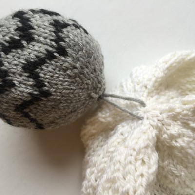 Tutorial on how to attach a pomball to a hat ~ from Imagined Landscapes Design