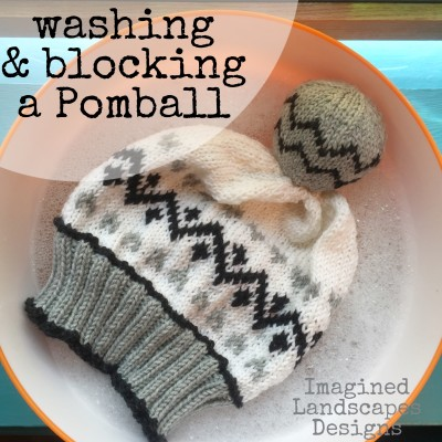 Tutorial: How to wash and block a Pomball - it's easy