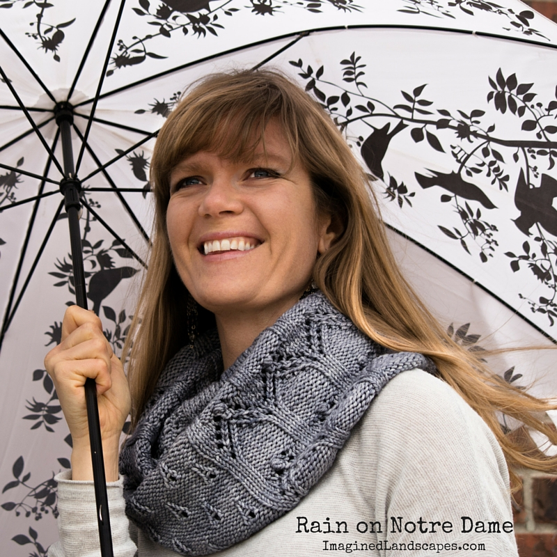 Rain on Notre Dame Cowl - knitting pattern by Imagined Landscapes