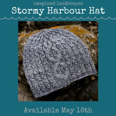 the Stormy Harbour Hat knitting pattern - designed for the Splash Pad Party knitalong