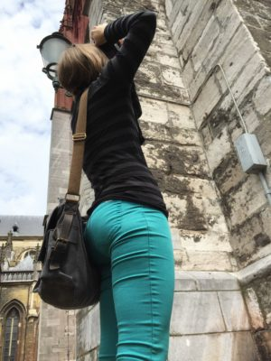 My daughter taking pictures in Maastricht