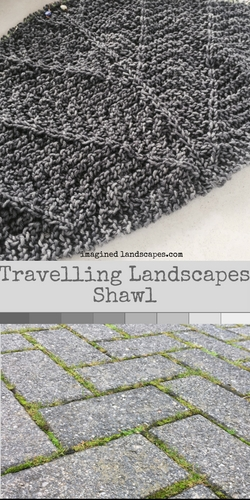 Travelling Landscapes Shawl knitting pattern from Imagined Landscapes