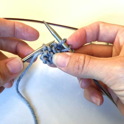Use the left needle tip to pick up rather than the right