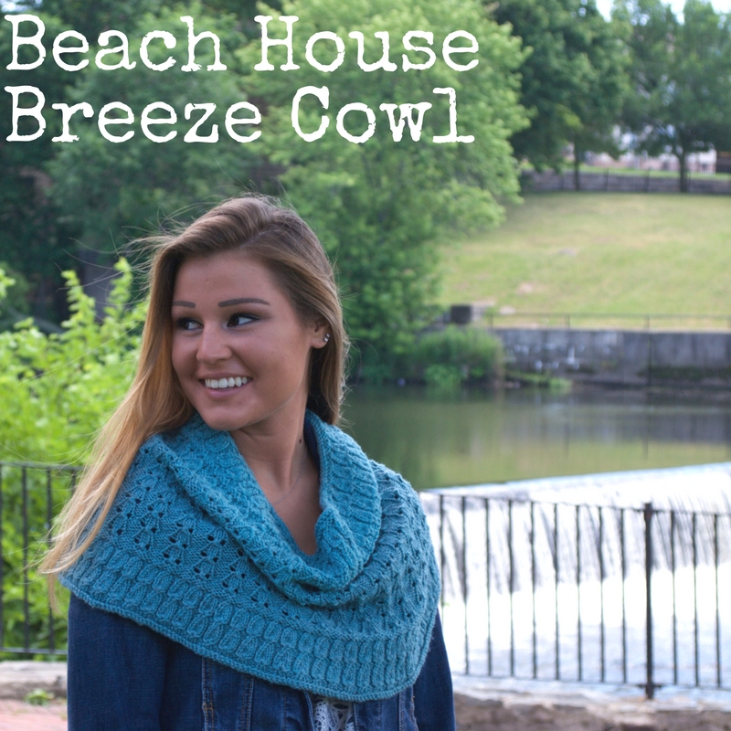 "Beach House Breeze Cowl from ""Point Counterpoint vol. 1"" a knitting pattern from Imagined Landscapes Designs"