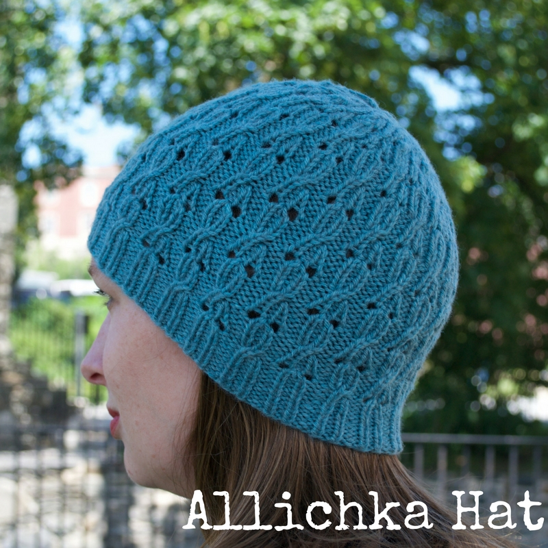 Allichka Hat by Kino Knits, part of the Point/Counterpoint Collection of knitting patterns; yarn: Cascade 220 Sport Superwash