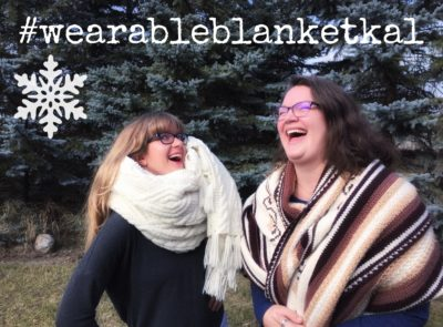 Wearable Blanket Knitalong on the Imagined Landscapes knitting podcast