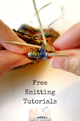 Free Knitting Tutorials from Imagined Landscapes designs