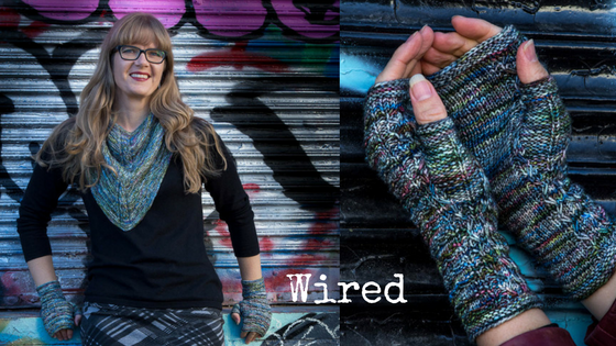 new from Imagined Landscapes - Wired Cowl and Fingerless Mitten knitting patterns