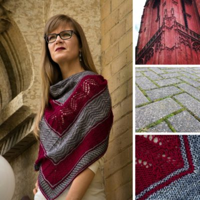 inspiration for the Travelling Landscape shawl pattern from Imagined Landscapes