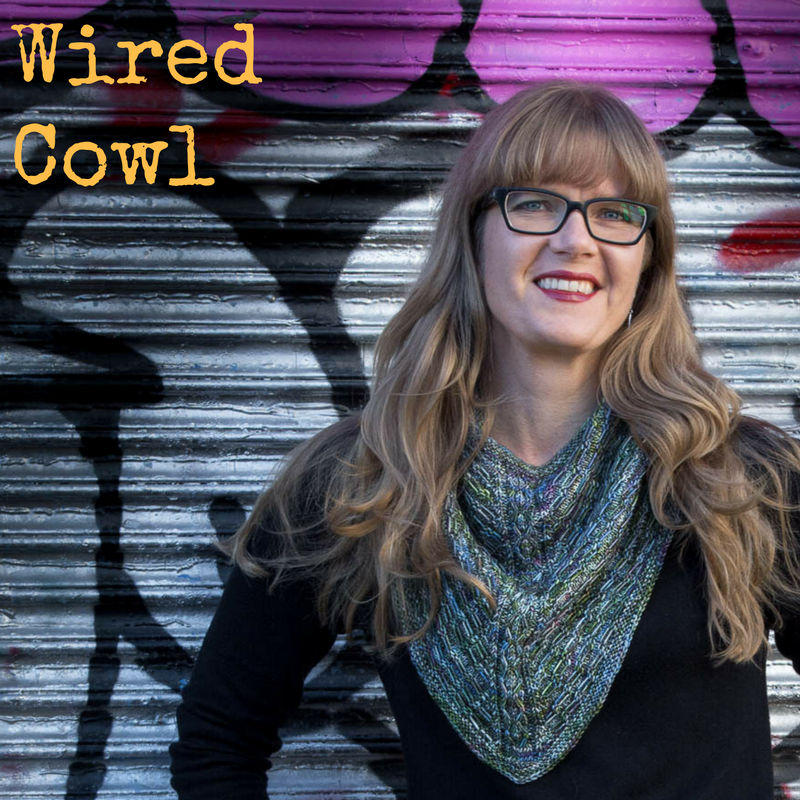 Wired Cowl - a sport-weight knitting pattern from Imagined Landscapes