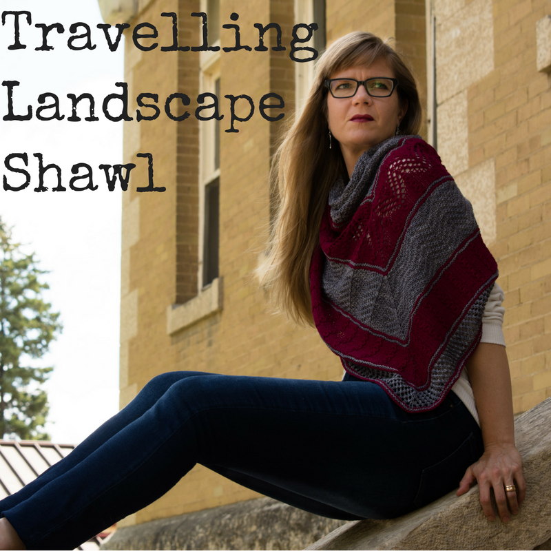 Travelling Landscapes Shawl - a free knitting pattern from Imagined Landscapes