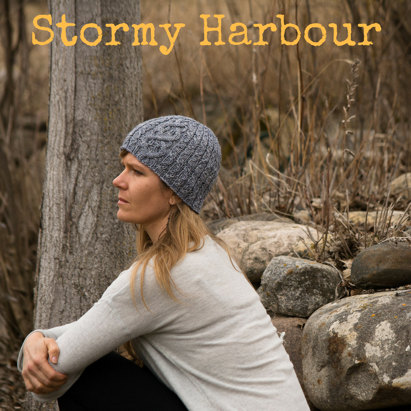 Stormy Harbour Hat - a worsted weight cabled knitting pattern