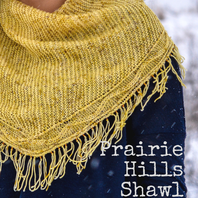 Prairie Hills Shawl - a one-skein knitting pattern from Imagined Landscapes
