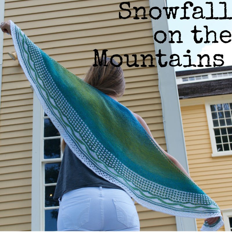 Snowfall on the Mountains Shawl - a knitting pattern from Imagined Landscapes
