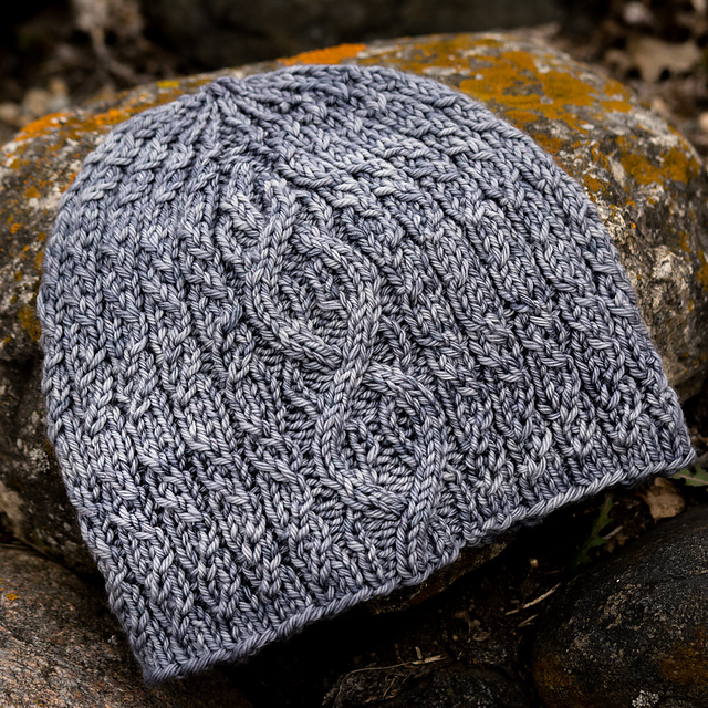 Stormy Harbour cabled hat pattern from Imagined Landscapes