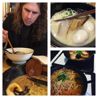 eating Ramen in Toronto
