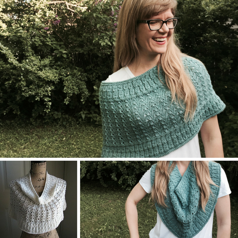 Beach House Breeze Cowl knitting pattern for sport-weight yarn from Imagined Landscapes Designs