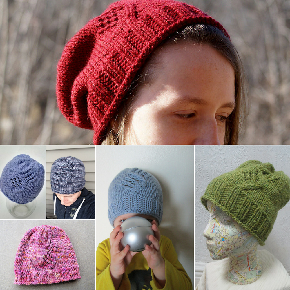 test knitters versions of the Winter's Path hat