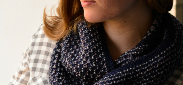 new pattern: Step Gable Brioche Cowl