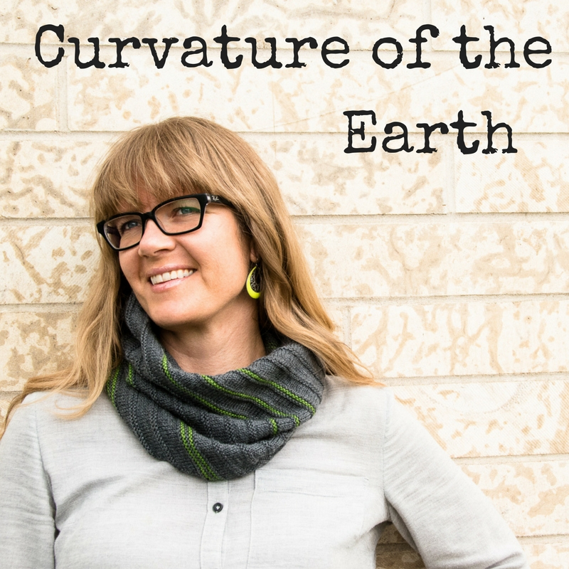 Curvature of the Earth Cowl - a knitting pattern for fingering weight yarn from Imagined Landscapes