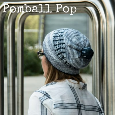 Pomball Pop Hat - use one mini skein and one full skein to get a great slouchy hat with a matching pompom from Imagined Landscapes
