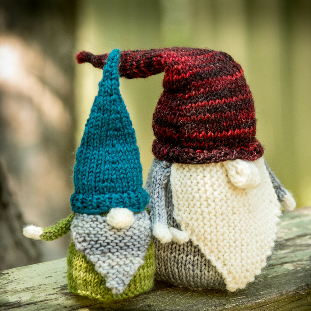 Never Not Gnoming - a whimsical knitting pattern from Imagined Landscapes Designs