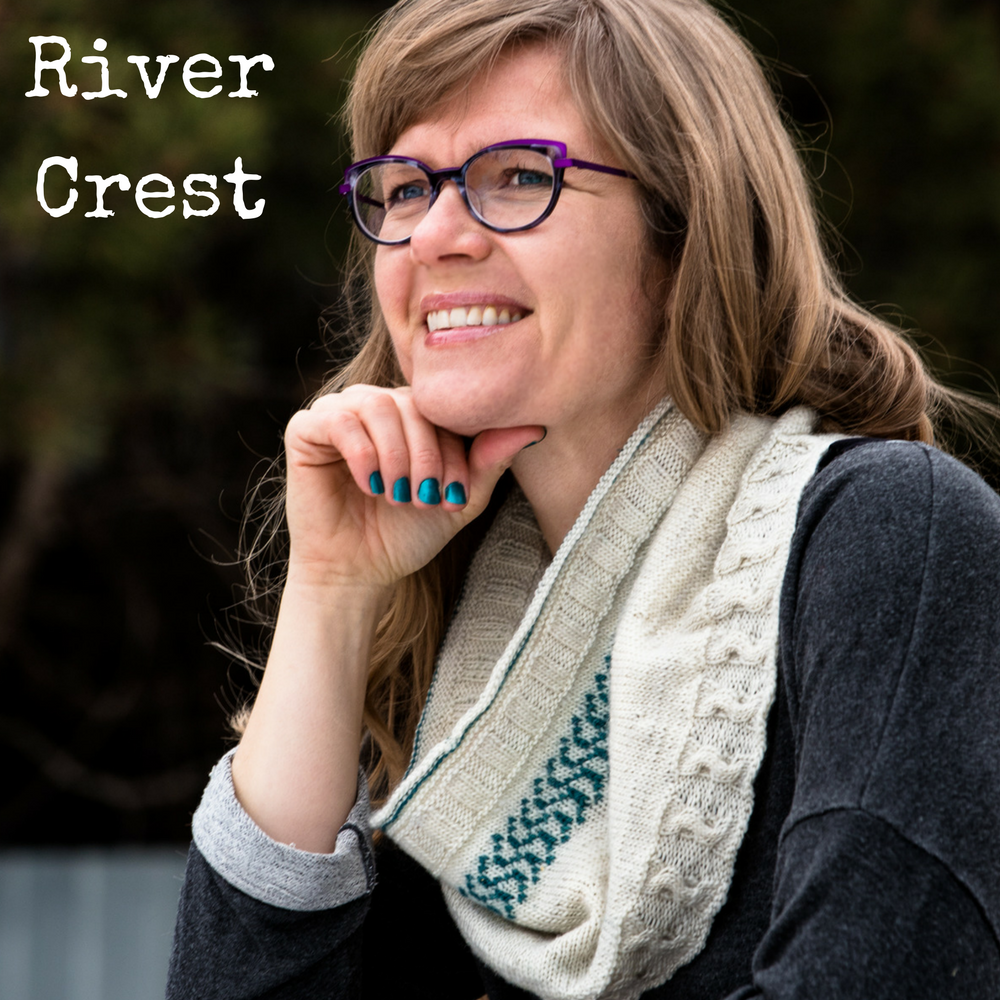 River Crest Cowl - a knitting pattern for fingering weight yarn from Imagined Landscapes