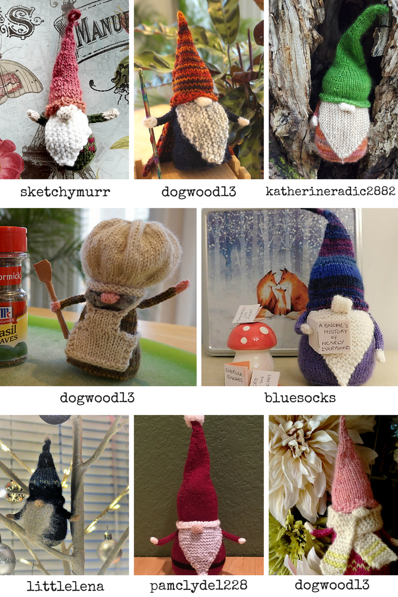Gnomes posted to the Indie Design Giftalong group