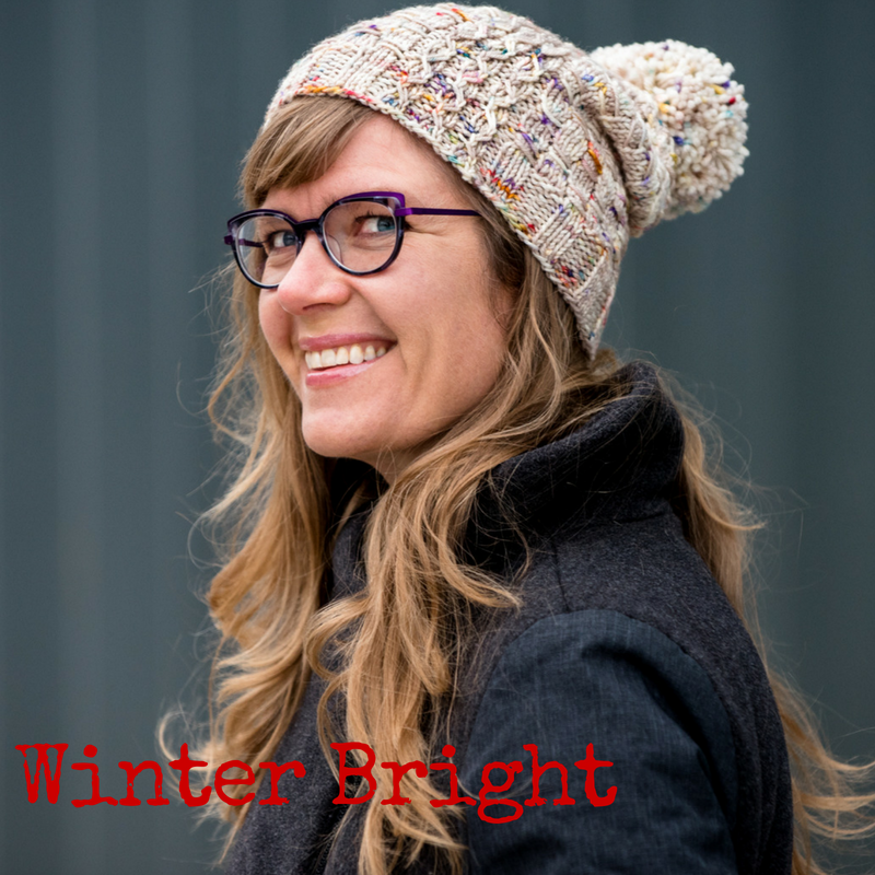 Winter Bright Hat - a knitting pattern from Imagined Landscapes Designs