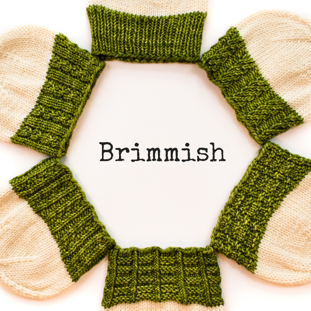 Brimmish Hat pattern from Imagined Landscapes Designs - 6 brim patterns, 8 sizes, 2 lengths!
