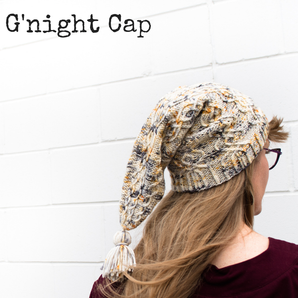 G'night Cap knitting pattern, a gnome-like Scandinavian knitted cap pattern